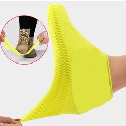 Classic Silicone Shoe Covers Reusable Waterproof Rain Boot Covers Women Men Non-slip Shoe Protector Thickened Outdoor Overshoes