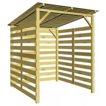 vidaXL Garden Firewood Storage Shed FSC Impregnated Pinewood Garden Outside Closet Storage Sheds