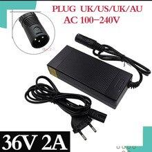 36V 2A realizacji akumulatora kwasowego ładowarka e bike dla 41.4 V elektryczny skuter elektryczny dla ładowarka e bike realizacji akumulatora kwasowego 3 pin XLR