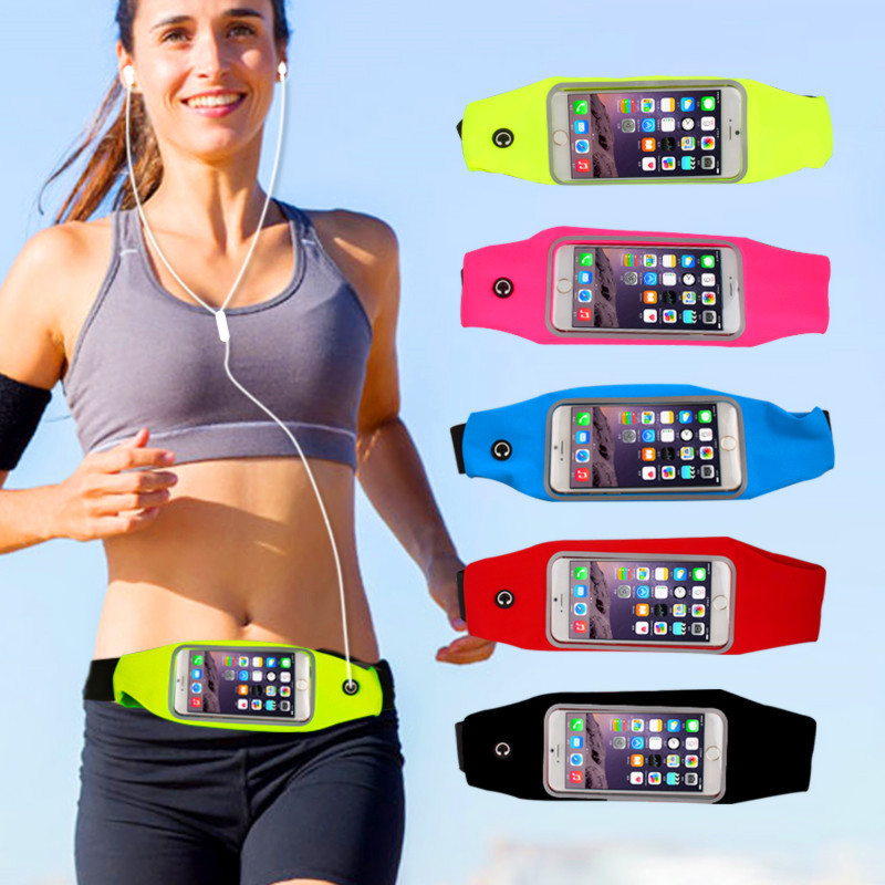 1PC Useful Sport Accessories Gym Waterproof  Waist Bag Belt Pouch Mobile Phone Case For IPhone 6 6s 7 8Plus 5 5s 5c SE Cover
