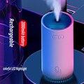Тяжелый туман Портативный беспроводной воздушный диффузор 320 мл 2000 мАч USB Перезаряжаемый ультразвуковой Арома Difusor увлажнитель лампа ...