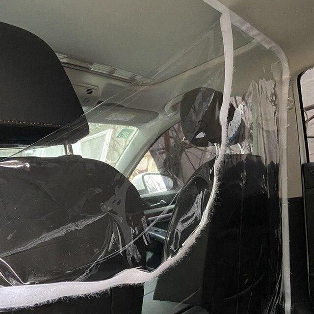 Cortina transparente de la pantalla de la protección del PVC de la película del aislamiento de la prueba de las gotitas del coche para el Interior Auto del conductor del Taxi de Uber