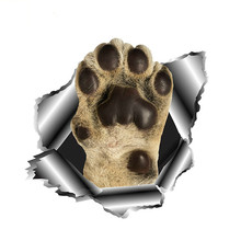 Funny Dog Paw Car Sticker 3D Torn Metal Automobiles Motorcyc
