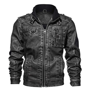 2020 New Mens Leather Jackets Autumn Wool Casual Motorcycle PU Jacket Biker Leather Coats Brand Clothing EU Size mens leather jackets 2020 autumn winter new casual motorcycle pu faux leather jacket male biker leather coats windbreaker jacket