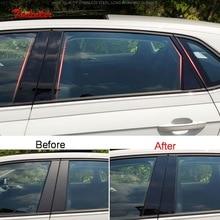 Tonlinker наружные окна модификация столб зеркальная крышка наклейка для Volkswagen POLO автомобильный Стайлинг 8 шт PC покрытие наклейка