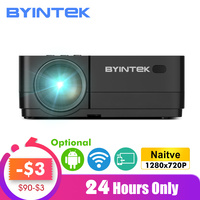 BYINTEK K7 Android Smart Wifi LED Mini Portable Video HD Projector For Iphone Ipad Smartphone Tablet Game 1080P Home Theater