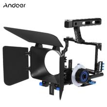 Andoer C500 Kamera Camcorder Video Käfig Rig Kit Matte Box + Follow Focus + Griff Grip für GH4 Sony A7S/A7/A7R ILDC Kamera