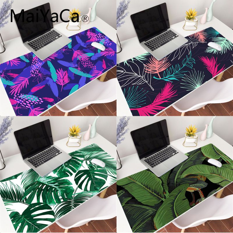 Banana Tree Green Leaves Palm Beautiful Anime Mouse Mat Gaming Mouse Pad gamer Large Deak Mat 800x300mm for overwatch/cs go