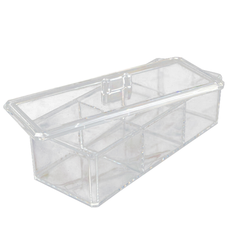 2 Layer Cuboids Transparent Multifunction Storage Box Detachable Combination Make Up Organiser Box