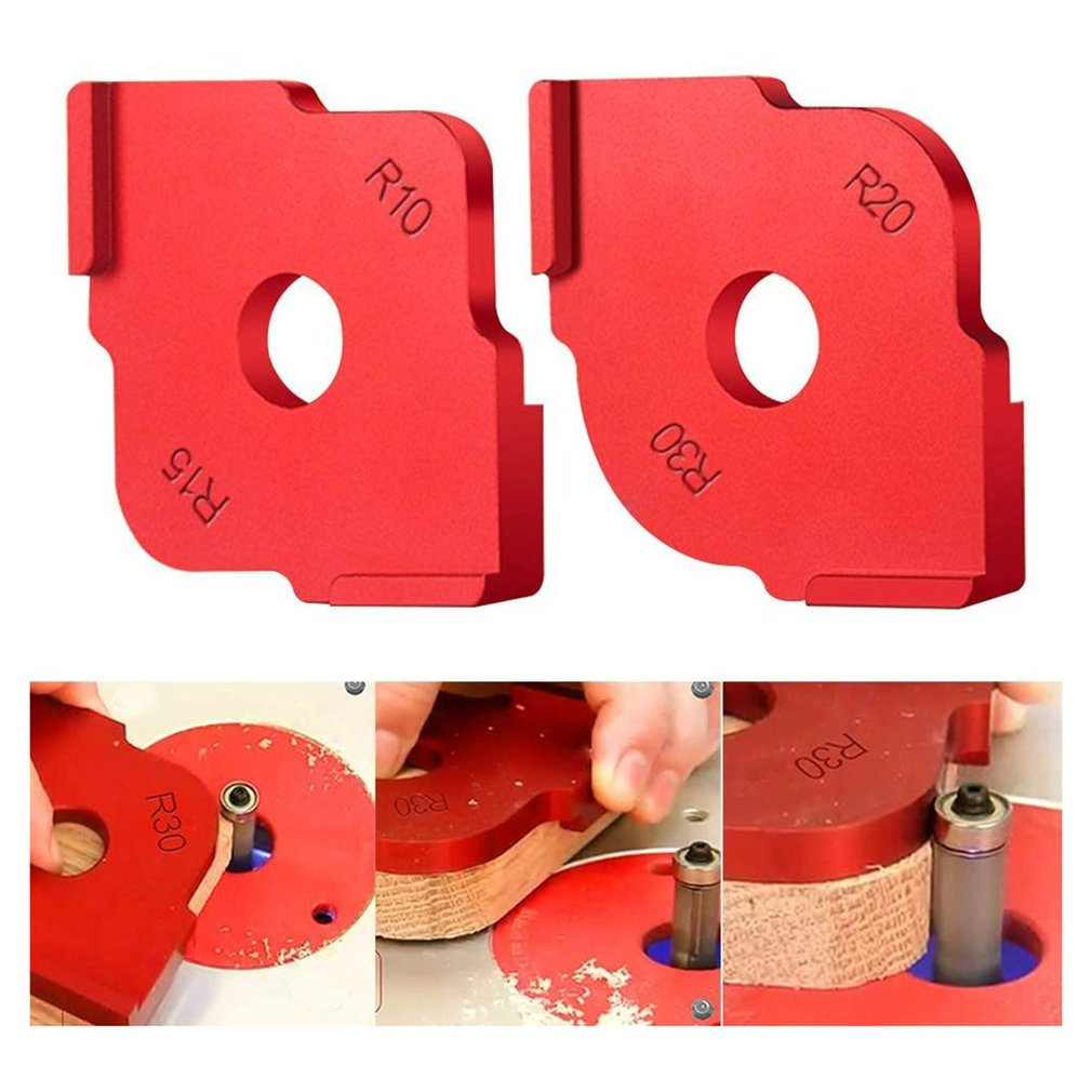 practical Wood Panel Radius R Plate Trimming Machine Engraving Machine Round Corner Template Kit Corner Jig