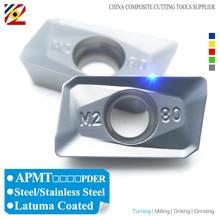 EDGEV APMT1135 PDER M2 APMT1604 PDER M2 APMT 1135 1604 H2 Carbide Inserts Face Mill Tools CNC Milling Cutter BAP300R BAP400R