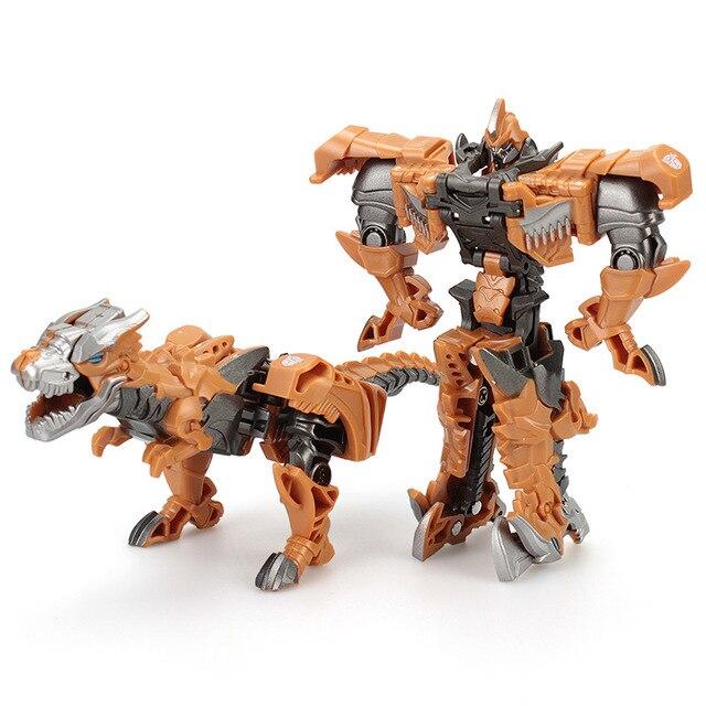 Children 12cm Transformation Robot Kit Toys Models 2 in 1 one Step  Model Deformed Car Toy for Boy Gift 5