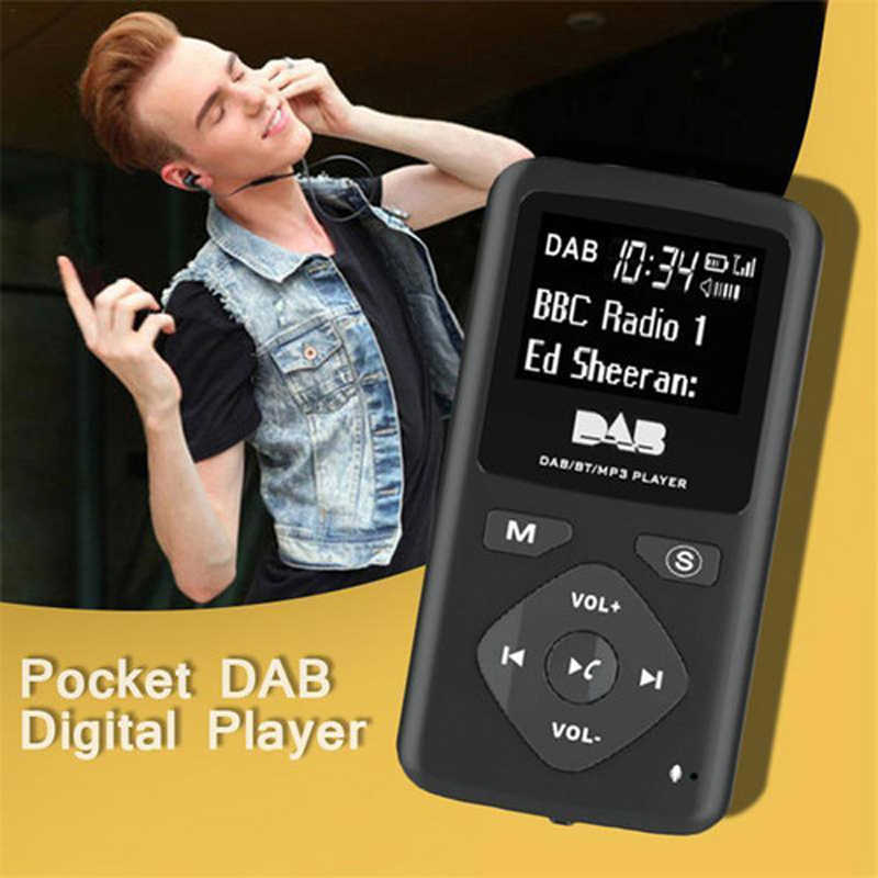 Portatile DAB/DAB + Pocket Digital Radio Receiver Bluetooth MP3 Player con Auricolare Radio Ricevitore