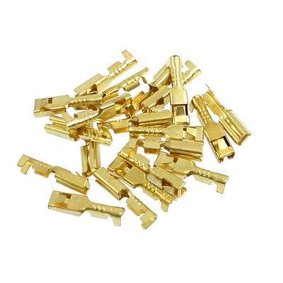 20 x Gold Tone Female Spade Crimp Terminals 2.8mm Wiring Connectors|Connectors| |  - title=