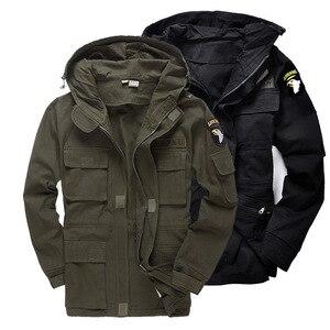 Image 5 - 군사 유니폼 남자 M65 트렌치 코트 남성 단색 위장 Wadded 101st 공수 포스 양털 재킷 코트 남자 의류 BF802
