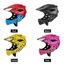 Ftiier Kid LED Mountain Mtb Road Bicycle Helmet Detachable Pro Protection Children Full Face Bike Cycling Helmet Cascos Ciclismo(China)