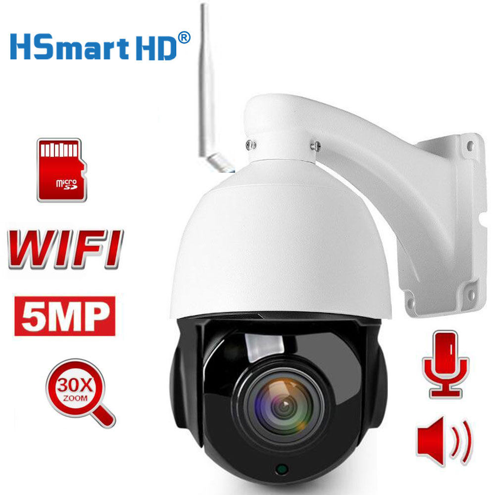 HD 1080P 5MP Wifi PTZ IP Camera Two Way Audio 30X Optical Zoom Auto Focus Lens Wireless CCTV IP Camera Outdoor Onvif CamHi