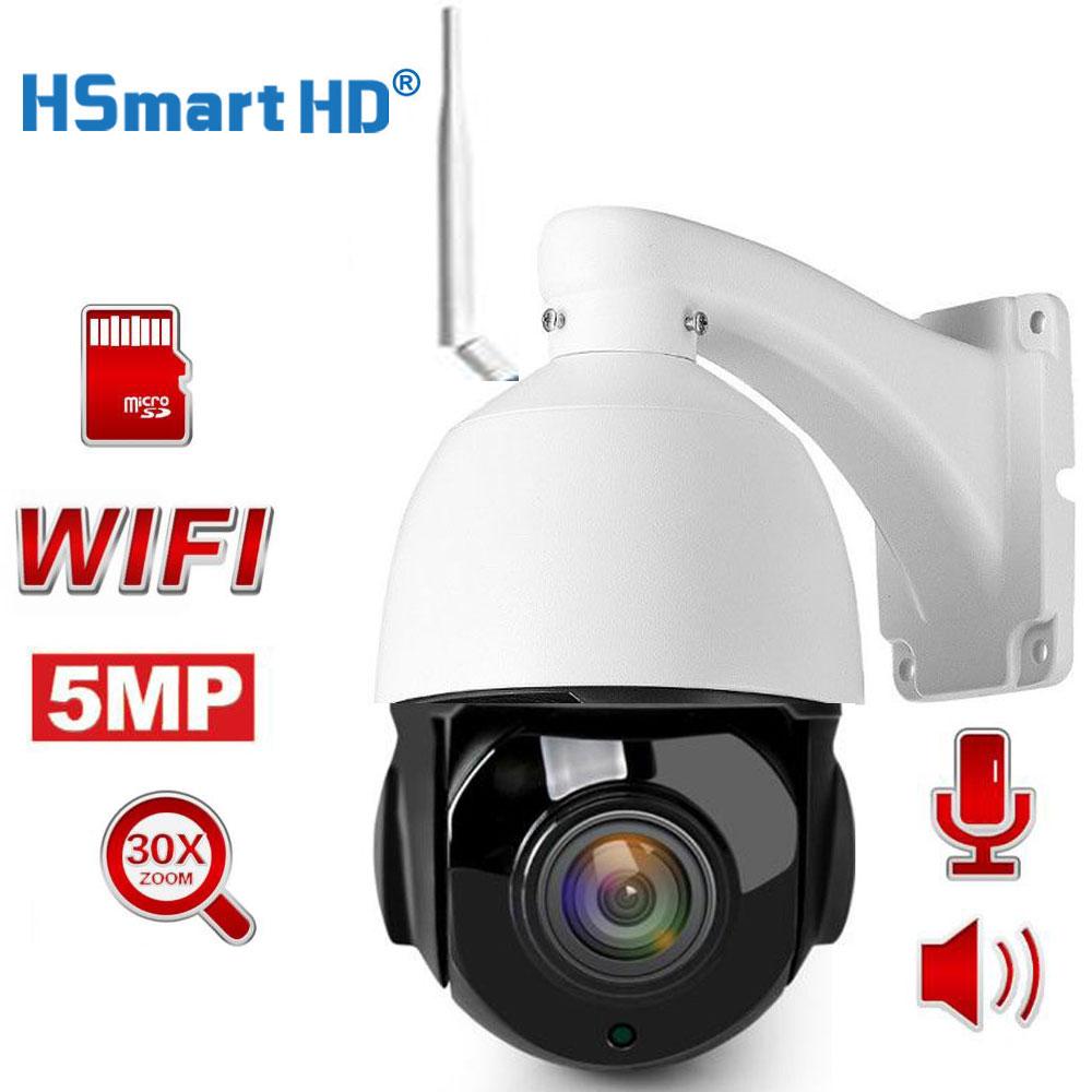 HD 1080P 5MP Wifi PTZ IP Camera Two Way Audio 30X Optical Zoom Auto Focus Lens Wireless CCTV IP Camera Outdoor Onvif CamHi