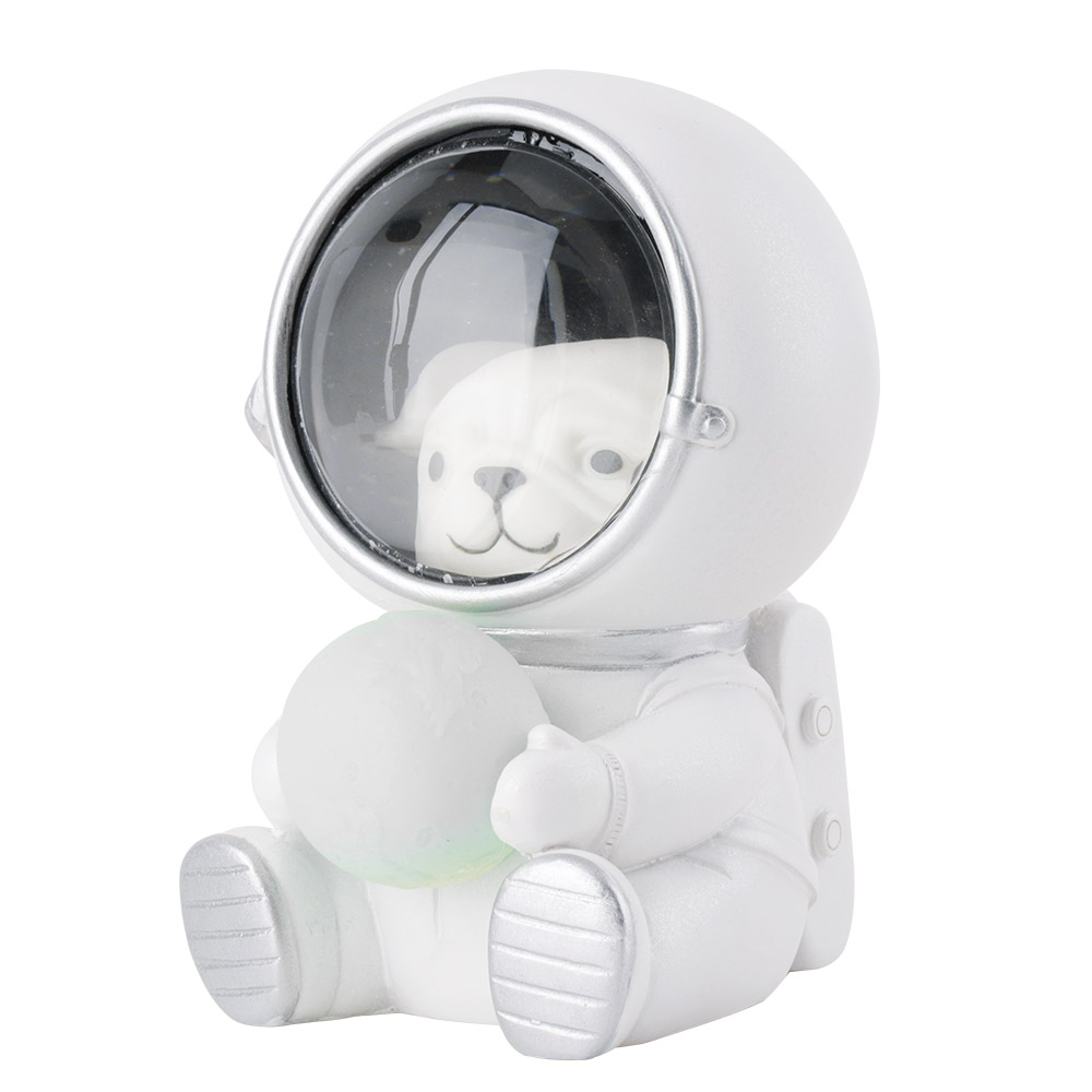 Image 2 - Cute Cat Dog LED Night Light Astronaut Moon Lamp Decor Bedroom Baby Room Bedside Lamp Birthday Christmas Gifts for Kids Children-in Night Lights from Lights & Lighting