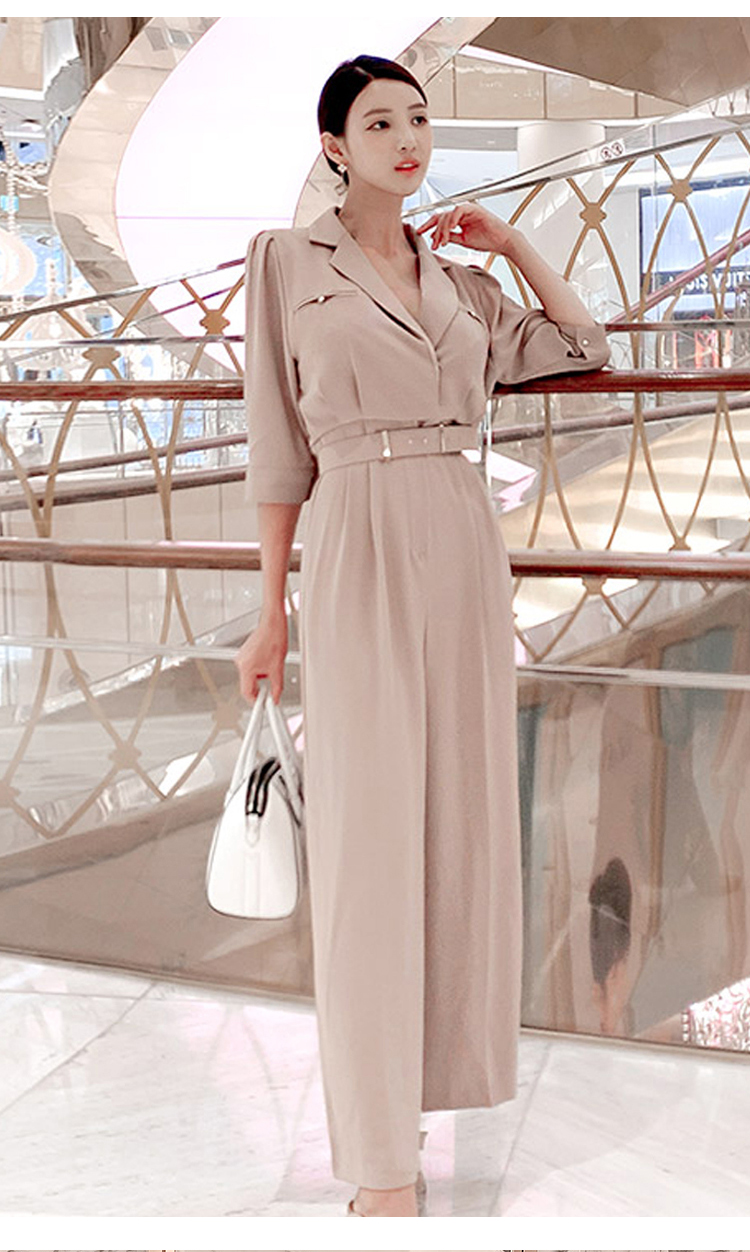 Autumn Female Elegant Office Lady Jumpsuit Trousers Women Casual Long Pants Overalls Casual Jumpsuit