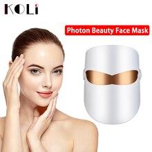 KOLI LED Mask Beauty Skin Rejuvenation Masque LED Facial Mask Facial Photon Therapy Anti Wrinkle Acne Tighten Skin Care Tool