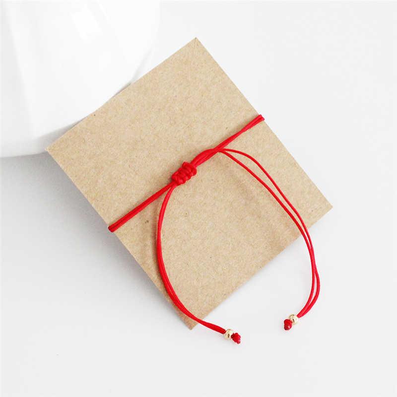1/2pc ホット販売赤糸文字列のブレスレットファッション赤、黒のロープのブレスレット商品友人カップルラッキージュエリーギフト