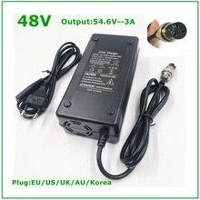 48V Li ion batterie chargeur sortie 54.6V 3A pour 48V vélo électrique Lithium batterie Pack 3 broches femelle connecteur GX16 XLR 3 Socket