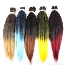 LISI HAIR Synthetic Easy Jumbo Braids Hair Ombre Braiding Hair 20inches 26 inches Crochet Hair Extensions