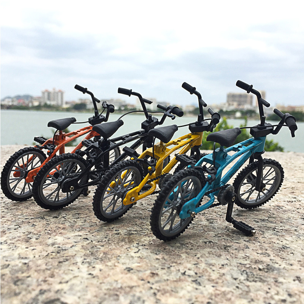 Finger Bicycle Toys Creative Alloy Finger Mountain Bike Children Grownup Bmx Fixie Finger Scooter Toy Gift Free Thumb Skateboard
