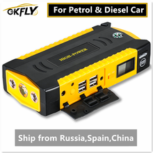 Gkfly Hoge Capaciteit Auto Jump Starter 600A Uitgangspunt Apparaat Draagbare Power Bank 12V Starter Kabels Auto Batterij Booster Oplader
