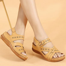 2021 sandały plażowe damskie letnie buty gruba podeszwa kobiety kliny sandały damskie letnie buty wakacyjne duży rozmiar 42 A3257