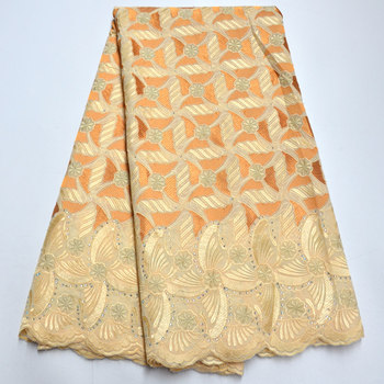 Beige Swiss Voile Lace In Switzerland High Quality 2020 African Lace Fabric Embroiderey Nigerian Lace Fabric For Garment