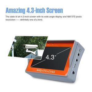 Image 5 - ANNKE 4.3 Cal 1080P tester kamery monitoringu AHD CVI TVI analogowy CVBS w 1 anologu testowanie kamery PTZ UTP tester kabli 12V1A wyjście