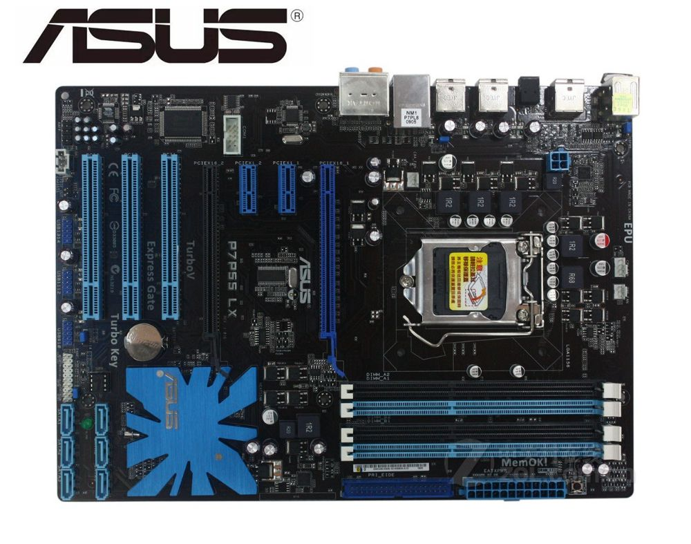ASUS P7P55 LX Original Motherboard LGA 1156 DDR3 USB2.0 16GB P55 USED PC Desktop Motherboard