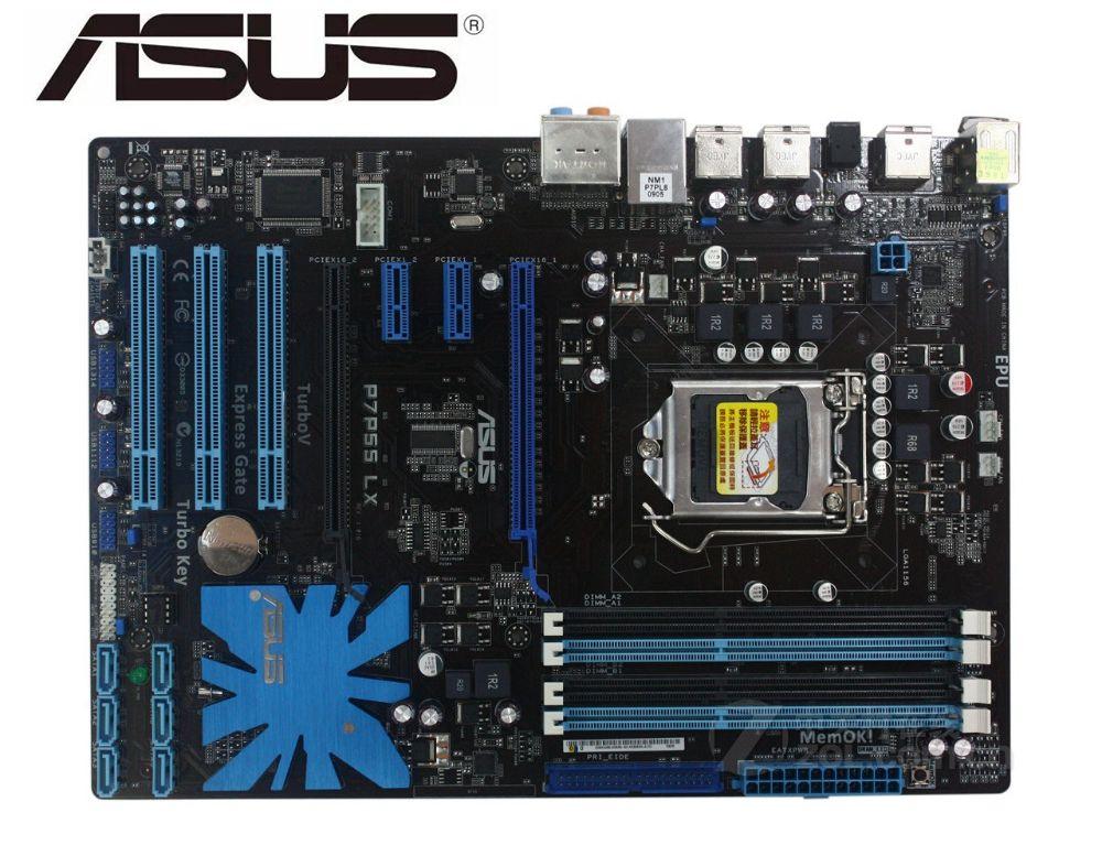 ASUS P7P55 LX Original Motherboard LGA 1156 DDR3 USB2.0 16GB P55 USED PC Desktop Motherboard