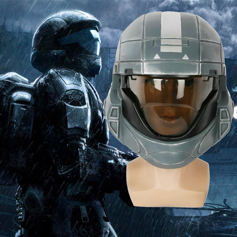 X-COSTUME 1:1 Scale Replica Halo3: ODST Cosplay Helmet Resin Mask Costume Props Halloween Adults Full Head