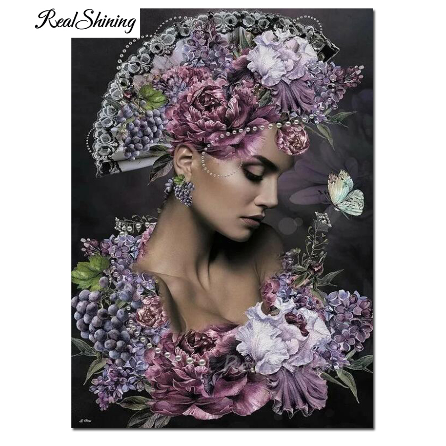 diamond embroidery iris flower woman cross stitch Diy diamond painting sale European sexy beauty 3d picture of rhinestone F174