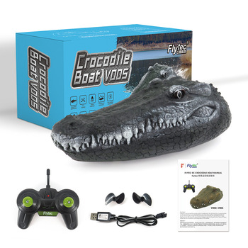 Squishy Crocodile Boat 2.4G 4CH RC  Halloween Antistress  Toys for Kids