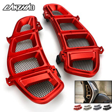 Motorcycle Radiator Guard Side Cover Protector Net CNC Aluminum Accessories for Piaggio Vespa GTS 250 300 2013   2018 2019 2020
