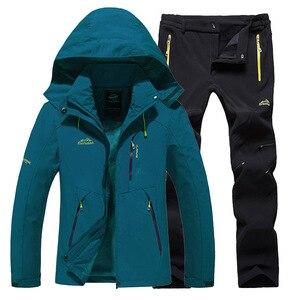 Image 1 - Kayak takım kadın sıcak su geçirmez kayak takım elbise seti bayanlar açık spor kış mont Snowboard kar ceket ve pantolon Lawele Hoolau