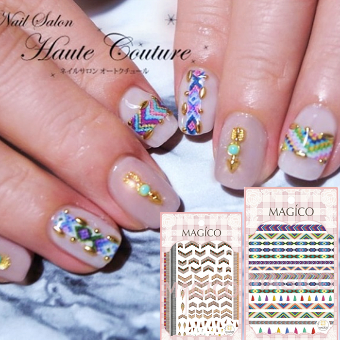MAGICO Series NATIVE FLOWER DESIGNS COOL 3d Nail Art Stickers Decal Template Diy Nail Tool Decorations