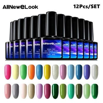 Gel Nail Polish 8ML Black Bottles 120 Colors 12Pcs Set Uv Led Lamp Nails Accessories