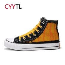 CYYTL/Мужская модная обувь г. Осенние высокие кроссовки из парусины вулканизованные повседневные кроссовки смешанных цветов Tenis Masculino Zapatos De Hombre