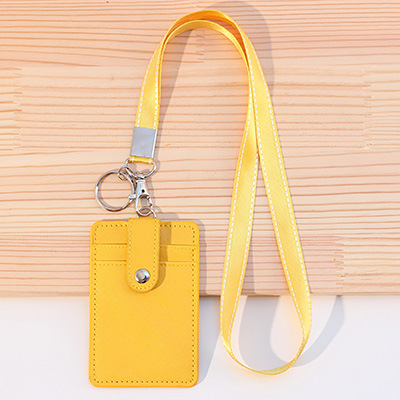 Business Credit Card ID Card Holder With Neck Strap Lanyard For Students Kids