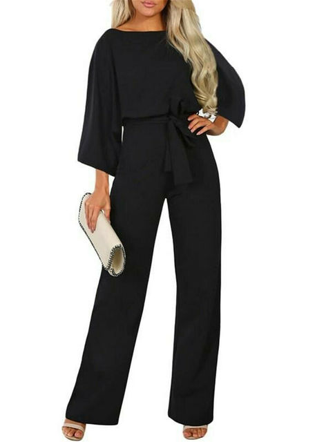 2019 New Women Female Fashion High Waist Long Sleeve Jumpsuit Autumn Cotton Long Sleeve Casual Loose Romper Trousers Ladies Pant 3