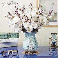 Wohnzimmer Display Home Decor Künstliche Blumen Mit Keramik Vase Set Hochzeit Esstisch Bouquet Topf Blumen Set Handwerk