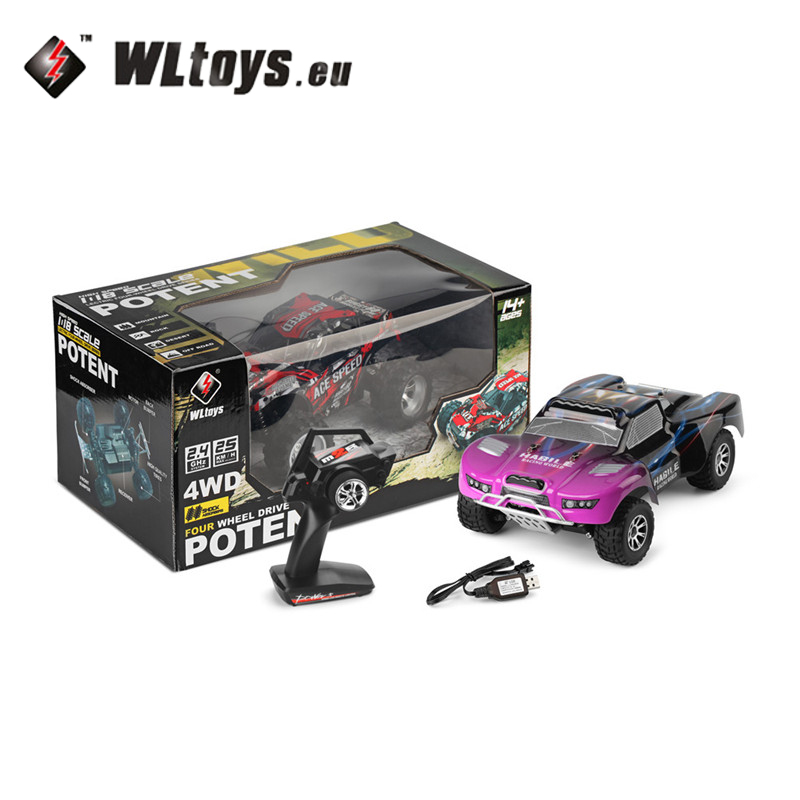Wltoys 18403 1:18 2.4G 4WD Electric Short Course Vehicle RC Car RTR Model Vehicle Toys Outdoor for Boys Children Gifts