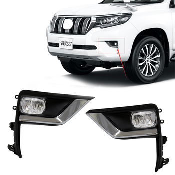Magic ColorM For Toyota Prado 2018 Land Cruiser With Wires Switch Front Bumper Driving Spot Lamp Car LED Fog Light Accessories