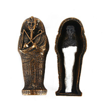 Resin Egypt Mummy Figurine Model Statue Miniature Egyptian King Sandplay Decor Flowerpot Micro Landscape Decoration Ornaments