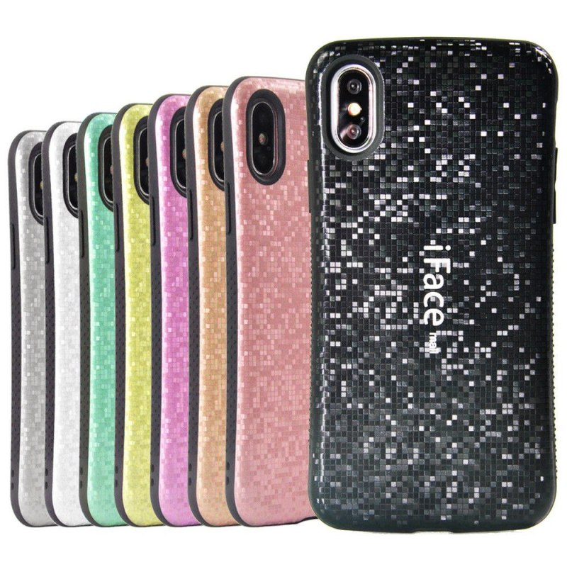 Case for IPhone XS Max 7 8 Plus Cover Shockproof Iface Mall Mosaic Plastic Anti-Skid Cover for Iphone 8 Plus XR Case